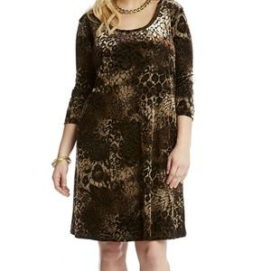 Karen Kane Plus Scoop Neck Velvet Dress size 2X